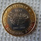 Argentina Malvinas Falklands War Hommage Commemorative Coin 2 Pesos 2012