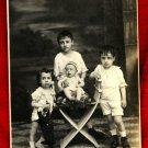 Vintage Photo Children Child Boy Girl Baby Gorgeous