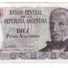 Argentina 10 Pesos Bank Note Banknote Paper Money
