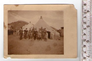 Argentina Army German Like Uniform  Officer Soldiers at Camp Photo CIRCA 1940