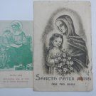 Argentina St  Anna Ana Anne  Holy Card  2 CARDS  VINTAGE