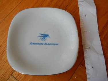 Argentina Airlines Aerolineas Verbano Porcelain Plate VINTAGE