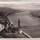 Hungary Magyar Budapest Air View Postcard VINTAGE