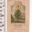 Argentina Jesus Christ Heart Holy Card Written in French