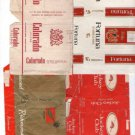 Vintage Original Cigarette c1970 Labels Tags from SOUTH AMERICA LOT of 4