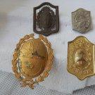 Argentina Sta Cruz Sta Fe San Juan Mendoza  Police Hat Badge  VINTAGE 4  BADGES