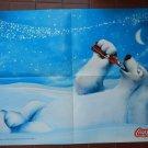 Coca Cola Advertising Polar Bears Arctic Poster 21 x 16 inches NEW