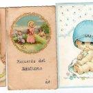 Argentina Children  Angel Baptism Christian Religion Holy Card LOT OF 3 Cards