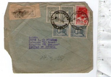 Argentina  Envelope  Cover & STAMPS c 1948