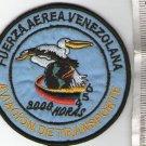 Venezuela  Air Force  Transportation  Group  3000  Hours Patch