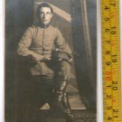 Argentina German Look Army Officer ORIGINAL 1920 Cabinet Postcard  Photo