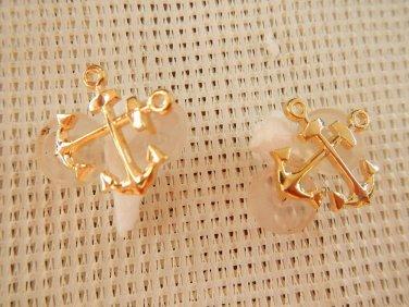 Argentina Coast Guard CG Prefectura Collar Anchor Badge Emblem LOT OF 2 EMBLEMS
