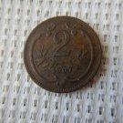 Austro Hungarian Empire Austria Austrian 1907 2 Heller GREAT COIN