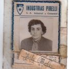 Argentina 1958 Pirelli Worker ID Card w PHOTO