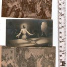 Argentina Jesus Christ Easter Palm Sunday Holy Card LOT OF 3 Cards