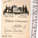 Cordoba Argentina to Germany 1946  New Year Greetings Postcard