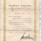 Argentina 1955 Communications Ministry Telefonos Telephone Director Assoc Naming