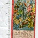 Jesus Christ Bunch Blessing Easter Holy Card VINTAGE