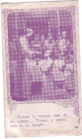 Jesus Christ Easter Prayer Print Holy Card OLD