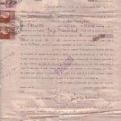 Argentina 1950 IOU Purchase Document REVENUE STAMPS