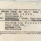 Argentina German Post WW2 Help Support Shipping Invoice #6