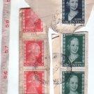 Evita Eva Peron 1952 Mail Stamp 6PC