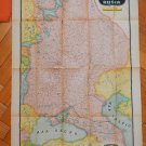 Vintage Asia Russia Ukraine & Turkey  Bemporat MAP Printed in Argentina 25x37 in