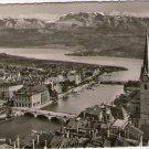 Switzerland Zurich & The Alps Mountain Airview Postcard