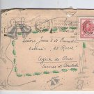 Argentina  Envelope  Cover Greeting Postcard & STAMP c 1948