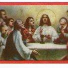 Argentina Jesus Christ  Holy Card Easter Dinner Apostles Vintage