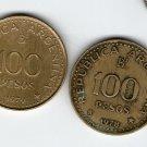 Argentina 100 Pesos Patagonia Conquest Commemorative COIN LOT OF 2 COINS