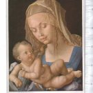 Durer Art Painting Madonna & Child Germany Postcard circa 1928 WITH STAMP