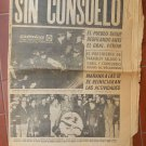Juan Domingo Peron Death 7/3/1974 Mourning  Newspaper CRONICA 20 pages Complete