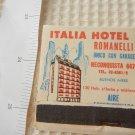Vintage Argentina Italia Hotel Buenos Aires Advertising  Matchbook Matchbox