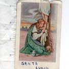 Argentina Santa Lucia St Lucy Christian Holy Card #2