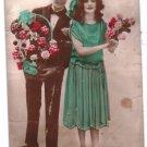 Early XXth France Greetings Postcard Couple Tres Joyeux