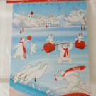 Argentina Coca Cola Athens 2004 Polar Bears 6 Stickers