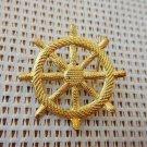 Argentina Navy Rudder Wheel   Uniform Epaulette  Emblem Badge OLD