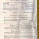 Federico C Liner Cruise Ship Marine Shipping 1958 Ticket Purchase German Receipt