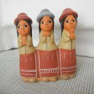 Vintage Argentina Indian Ceramic Pottery 3 Indian Women Figure RARITY