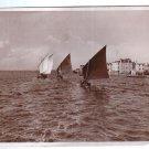 Sailboats Sail Boat Ship Italy 1937 Postcard NICE