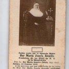 Argentina Sor Maria Josefa Rosello ANTIQUE Holy  Card