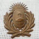 VINTAGE Argentina Army Hat Shield Emblem Badge #5