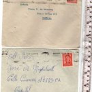 Argentina  Envelope  Cover & STAMPS c 1950 LOT OF 2