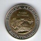 ARGENTINA COIN 1 peso 2010 Pucara de Tilcara Commemorative EXCELLENT