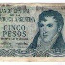 Argentina 5 Pesos Bank Note Paper Money