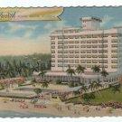 VINTAGE Miami Beach Florida Fabulous Hotel Road  Postcard