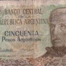 Argentina 50 Pesos Bank Note Banknote Paper Money