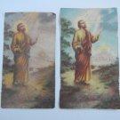 Argentina St Peter St Paul Pedro Pablo  Holy Card  2 CARDS  VINTAGE