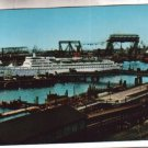 TS Hamburg at Hamburg Hafen Ship Merchant Postcard
